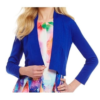 Calvin Klein NEW Blue Women's Size XL Open-Front Knit Solid Shrug