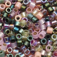 Miyuki Delica Seed Bead Mix 11/0 Lavender Garden Pink Green 7.2 Grams