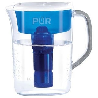 Pur 7 Cup Ultimate Water Filtration Pitcher Without Led, Clear/Blue