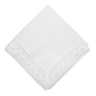 CTM® Women's Cotton Chapel Lace Handkerchief - White - One Size