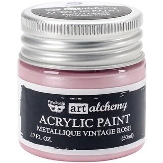 Finnabair Art Alchemy Acrylic Paint 1.7 Fluid Ounces-Metallique Vintage Rose
