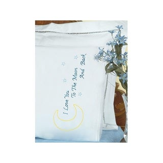 Jack Dempsey Pillowcase Lace Love You to the Moon