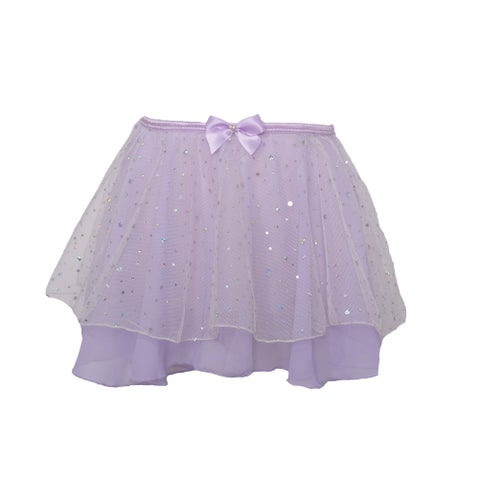 Danshuz Toddler Little Girls Lavender Skirt Hologram Dot Dancewear 2T-7
