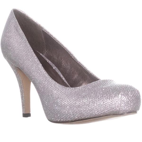 madden girl Getta Platform Pump Heels, Silver - 8 us