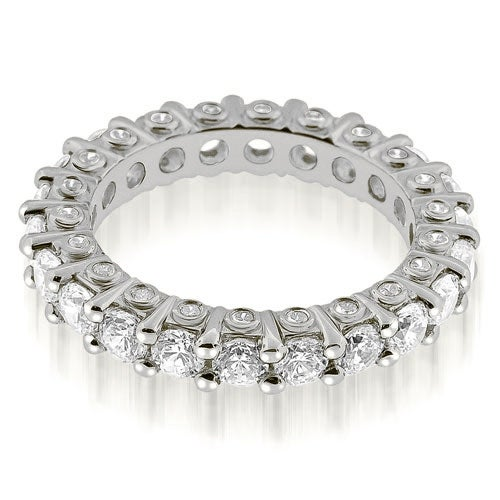 2.64 cttw. 14K White Gold Stylish Round Cut Diamond Eternity Band Ring