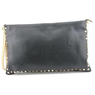 J. Renee KId Women Leather Black Clutch