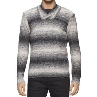Calvin Klein NEW Black Mens Size Small S Pullover Shawl V-Neck Sweater