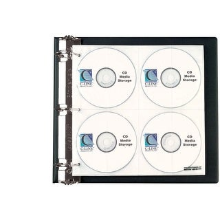 C-Line Refill Page For CD And DVD Ring Binder Kit, 144