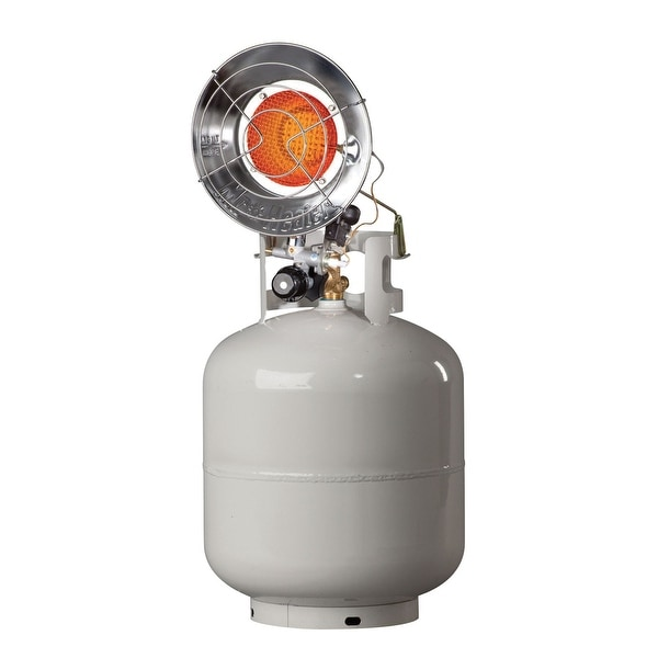 Mr. Heater MH15T Tank Top Outdoor Propane Heater - Silver