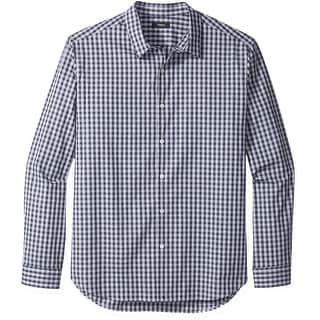 Theory NEW Blue Mens Size Large L Check Woven Button Down Shirt