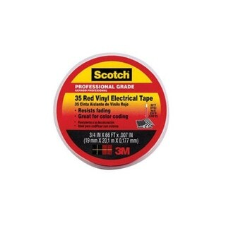 "Scotch 10810-BA-10 Vinyl Electrical Tape 3/4""X66' -Red"