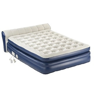 "Aerobed 2000011983 18"" Elevated Queen Airbed Inflatable Mattress Built in Pump - Blue"