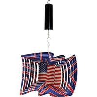Sunnydaze 12 Inch American Flag Wind Spinner with Battery Operated Motor