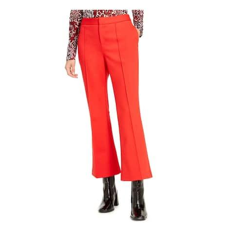BAR III Womens Red Boot Cut Pants Size 6