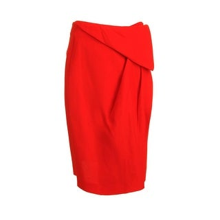 Vionnet Womens Crepe Draped Wrap Skirt