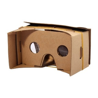Smartphone Cardboard Kit DIY 3D VR Virtual Reality Paper Viewing Glasses 6 Inch