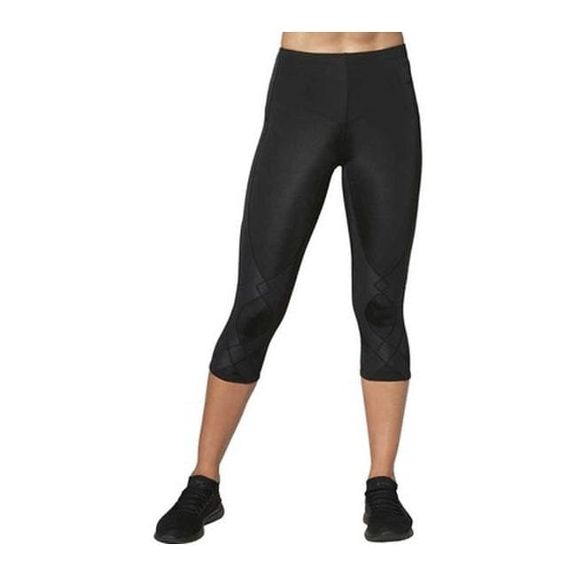 CW-X Womens Mid Rise 3/4 Capri Stabilyx Compression Tights Black