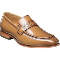 Stacy Adams Men's Sussex Moc Toe Loafer 25179 Tan Smooth Leather