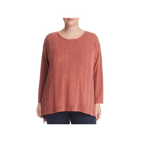 Vince Camuto Womens Plus Pullover Sweater Hi-Low Drop Shoulder - 1X