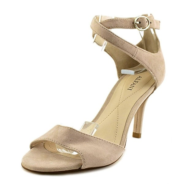 Alfani Womens Ginnii Leather Open Toe Casual Ankle Strap Sandals