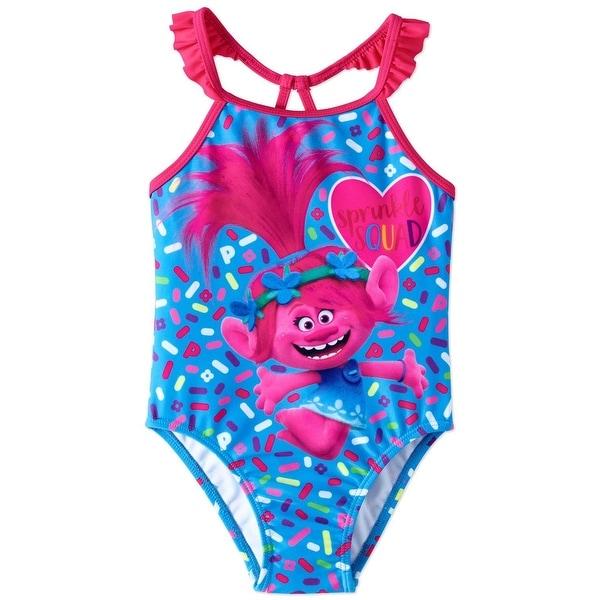 0ba694f482d28 Shop DreamWorks Girls 2T-4T Trolls Swim Suit - Blue - Free Shipping On  Orders Over $45 - Overstock - 21690972