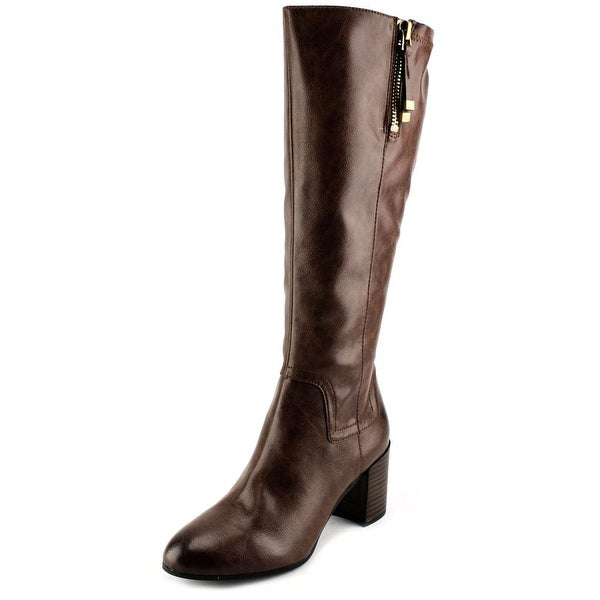 Franco Sarto Nostalgia WC Women Round Toe Synthetic Brown Knee High Boot