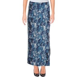 Romeo & Juliet Couture Womens Maxi Skirt Snake Print Side Slits - M