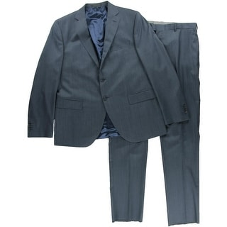 Lubiam Mens Wool 2PC Two-Button Suit - 46R