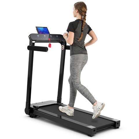 Costway Ultra-thin Lightweight Folding Treadmill Installation-free