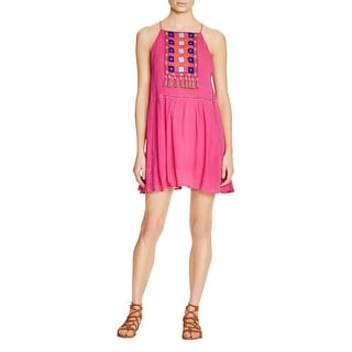 Piper by Townsen Womens Casual Dress Embroidered Embellished