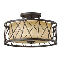 Fredrick Ramond FR41622 3-Light Semi-Flush Ceiling Fixture from the Nest Collection