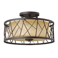 Fredrick Ramond FR41622 3-Light Semi-Flush Ceiling Fixture from the Nest Collection - N/A