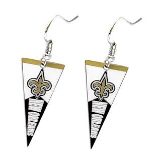 New Orleans Saints NFL Pennant Dangle Earring