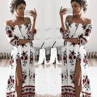 Summer Beach Dress With Retro Split Beach Dress Women's Clothing