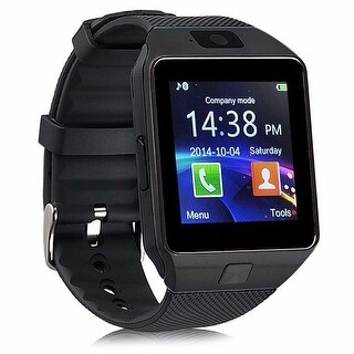 Kanstar Bluetooth Smart Watch DZ09 Smartwatch GSM SIM Card With Camera For Android IOS Black