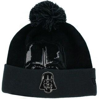 Star Wars Darth Vader Woven Biggie Knit Hat with Pom