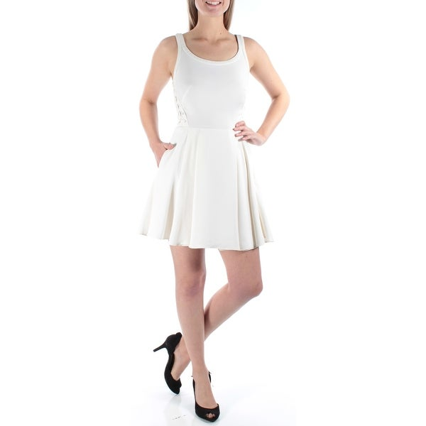 a165e2c39dac Shop RACHEL ROY Womens Ivory Pocketed Sleeveless Scoop Neck Mini Fit +  Flare Dress Size: S - Free Shipping On Orders Over $45 - Overstock -  21316360