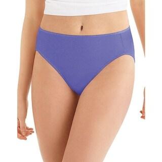 Hanes Cool Comfort Microfiber Hi-Cut Panties 5-Pack - 10