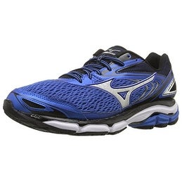 Mizuno Men's Wave Inspire 13 Running Shoe, Strong Blue/Silver, 10 D US