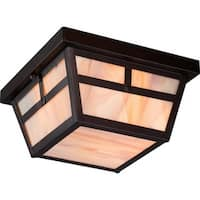Nuvo Lighting 60/5676 Tanner 2 Light Flush Mount Outdoor Ceiling Fixture - 9.25 Inches Wide