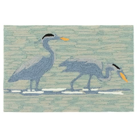 Liora Manne Frontporch Blue Heron Indoor/Outdoor Rug Lake