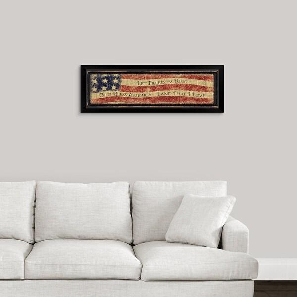 Linda Spivey Economy Framed Print with Standard Black Frame entitled God Bless America