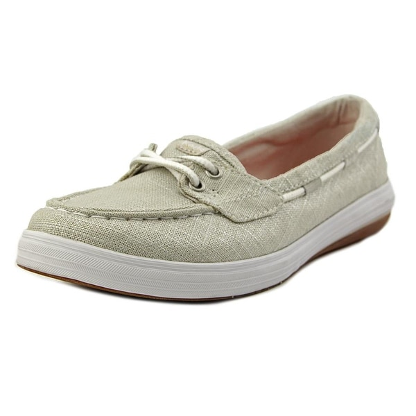 21520ea079 Shop Keds Glimmer Twill Women Moc Toe Synthetic Silver Boat Shoe ...