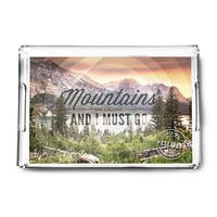 Montana - John Muir - The Mountains are Calling - Circle - Photograph (Acrylic Serving Tray)