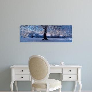 Easy Art Prints Panoramic Images's 'Winter Trees Perkshire Scotland' Premium Canvas Art