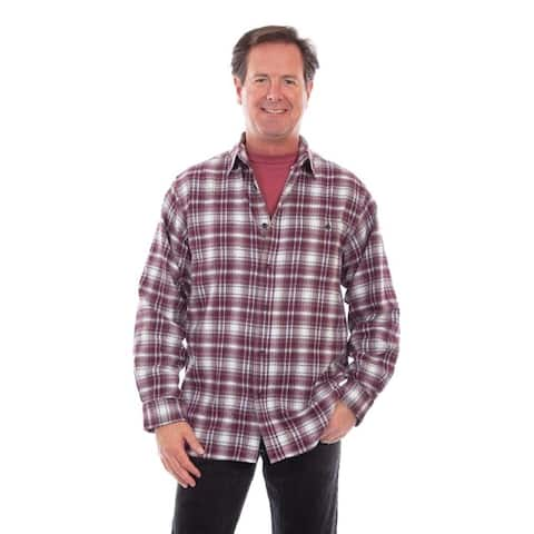 Scully Western Shirt Mens L/S Plaid Flannel Button Front