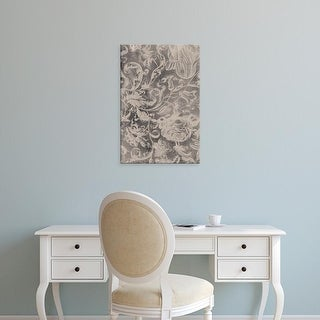 Easy Art Prints Vision Studio's 'Aged Floral I' Premium Canvas Art