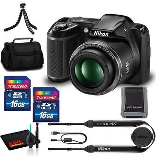 Link to Nikon COOLPIX L340 Digital Camera (Bk) - (2)16GB Memory, Case, Tripod, and More Similar Items in Digital Cameras