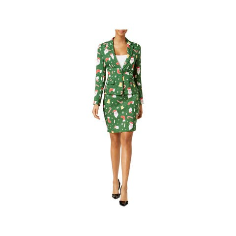 Opposuits Womens Santababe Skirt Suit Holiday Party