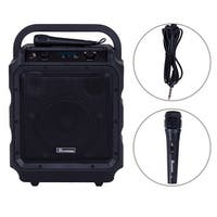 """Suono Portable 8"""" PA System Rechargeable Battery 300W RMS Power Active Speaker - black"""